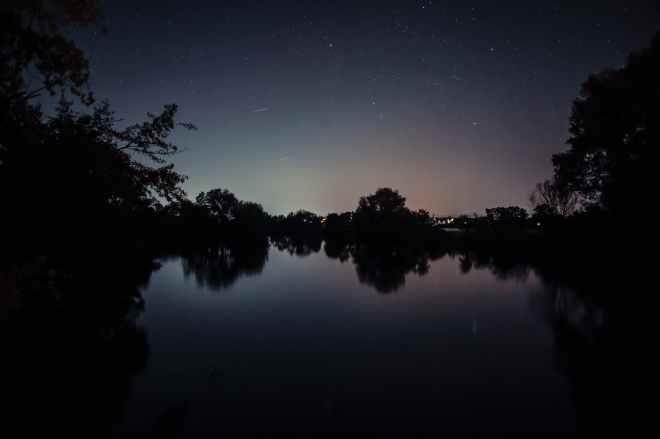 nature sky night water